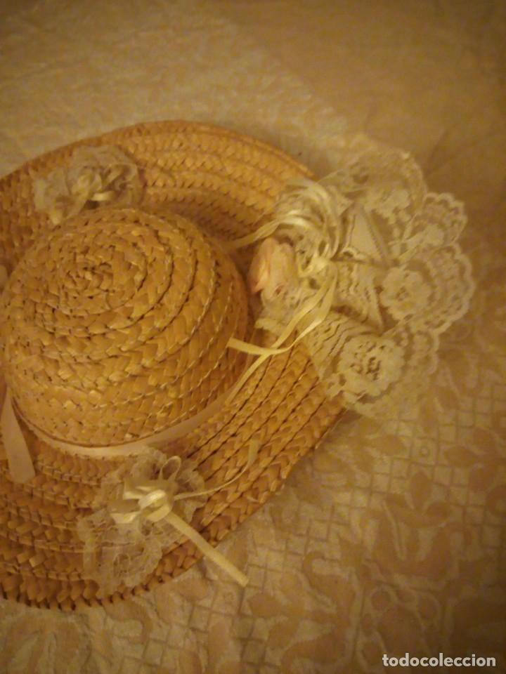 Vestidos Muñecas Españolas: Precioso sombrero de paja con flores y lazos para mariquita perez y similares. - Foto 2 - 144501054