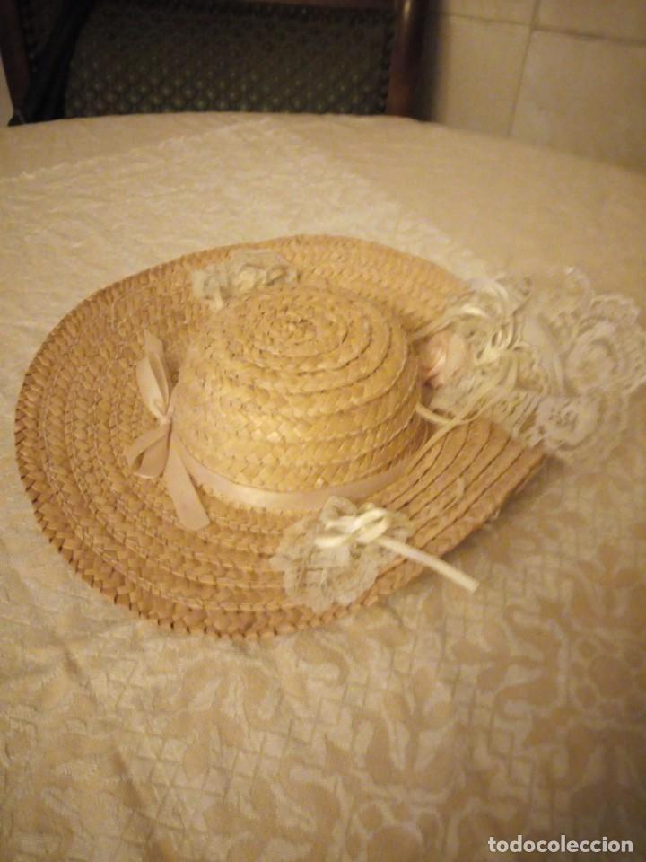 Vestidos Muñecas Españolas: Precioso sombrero de paja con flores y lazos para mariquita perez y similares. - Foto 3 - 144501054