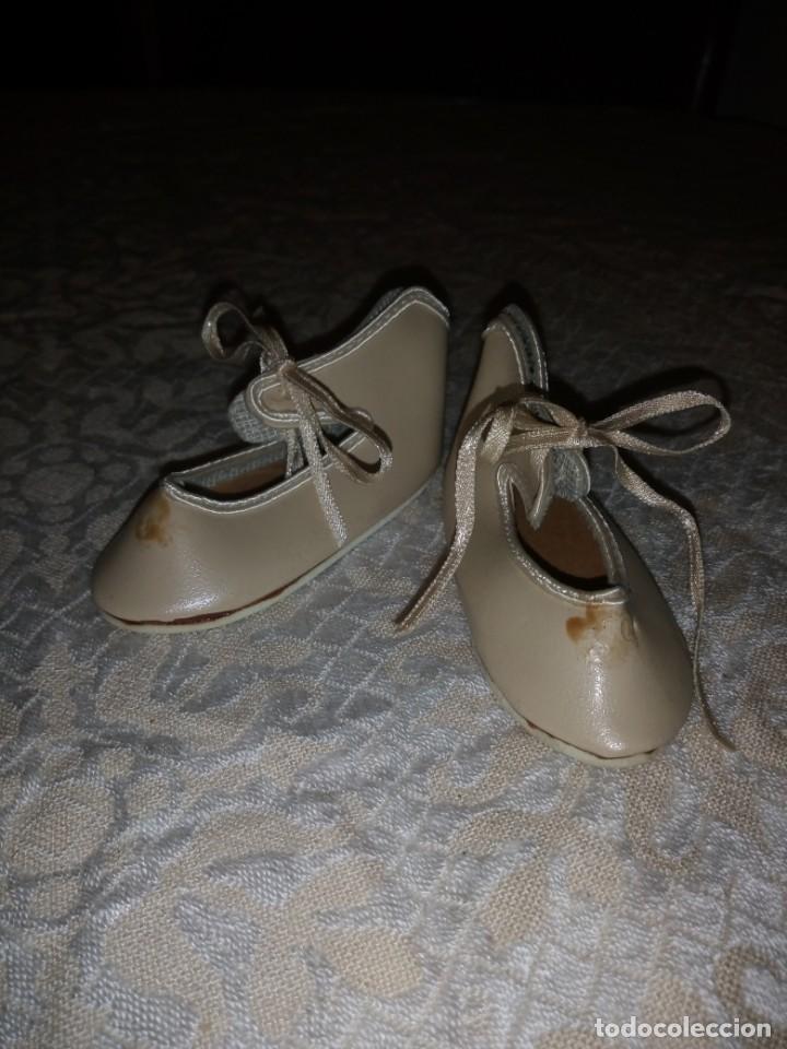 Vestidos Muñecas Españolas: Zapatos de piel color beige para muñecas de porcelana. - Foto 2 - 144502734