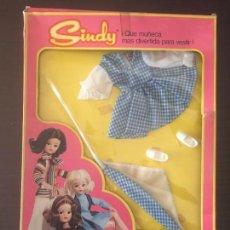 Vestidos Muñecas Españolas: VESTIDO SINDY FAMOSA MODELO CAMPIÑA AÑO 1970. Lote 146201350