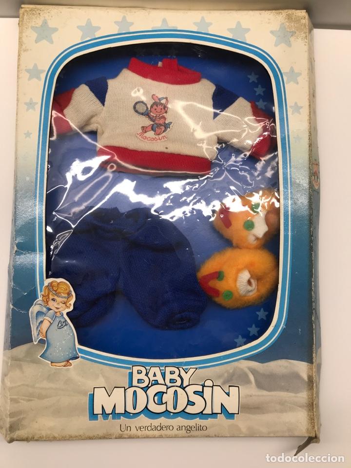 Vestidos Muñecas Españolas: Conjunto para Baby Mocosin de Toyse en estuche original - Foto 4 - 154952392