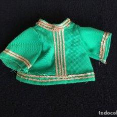 Vestidos Muñecas Españolas: BLUSA VERDE Y DORADA PARA MUÑECA. Lote 155966914