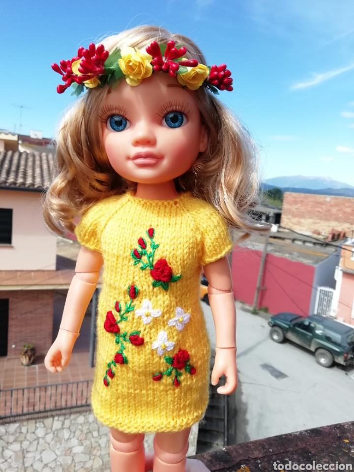 CONJUNTO (VESTIDO +DIADEMA) PARA NANCY DE FAMOSA (Juguetes - Vestidos y Accesorios Muñeca Española Moderna)
