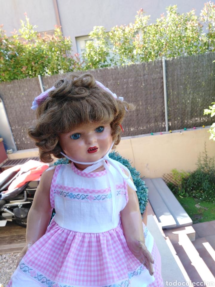 Vestidos Muñecas Españolas: Vestido y s rosa y blanco con sombrerito para muñeca de 50cm .30 - Foto 2 - 169029092