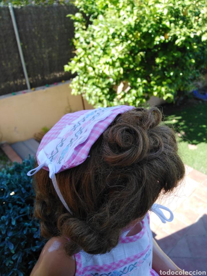 Vestidos Muñecas Españolas: Vestido y s rosa y blanco con sombrerito para muñeca de 50cm .30 - Foto 3 - 169029092