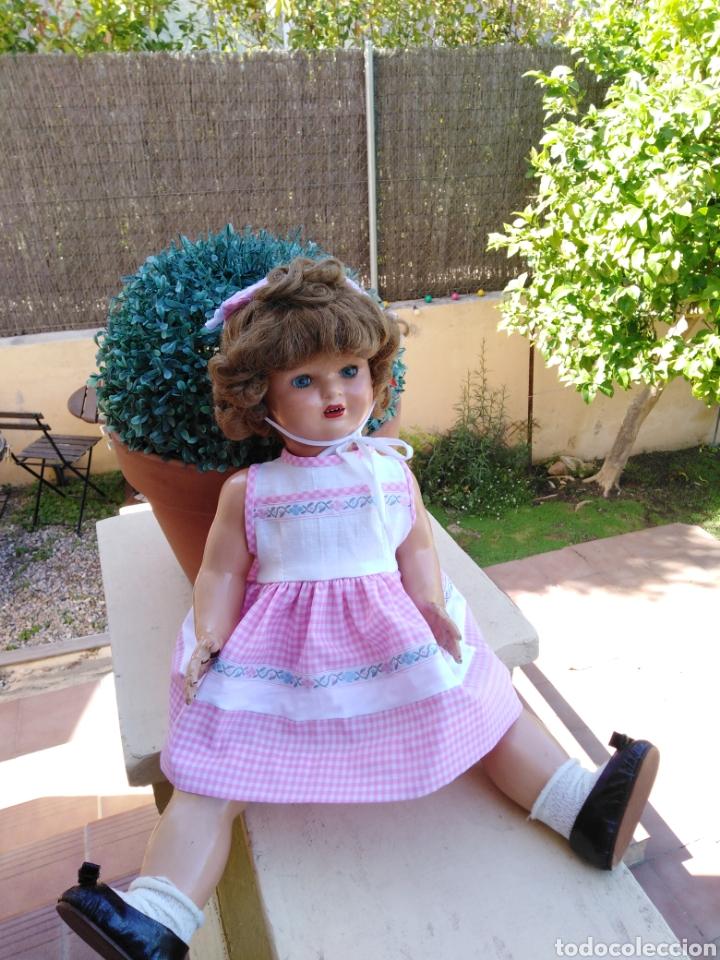 Vestidos Muñecas Españolas: Vestido y s rosa y blanco con sombrerito para muñeca de 50cm .30 - Foto 6 - 169029092