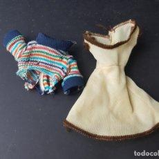 Vestidos Muñecas Españolas: CONJUNTO ORIGINAL MUÑECA CORE DE BB VESTIDO - PETO Y CAMISETA. Lote 170383804