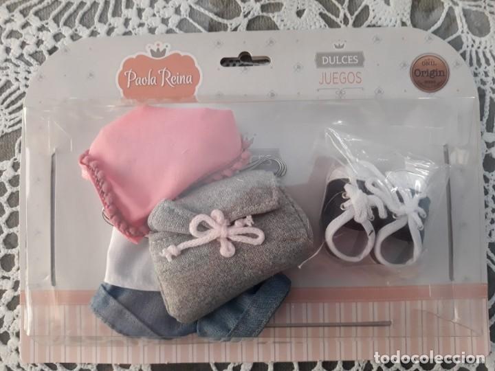 Vestidos Muñecas Españolas: Deportivas, conjunto, pañuelo y bolso para muñeca Paola Reina (las amigas) 32 cm. - Foto 2 - 129477979