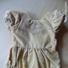 Vestidos Muñecas Españolas: TRAJECITO DE PANA ORIGINAL JUANIN BEBÉ GRANDE. Lote 171966010