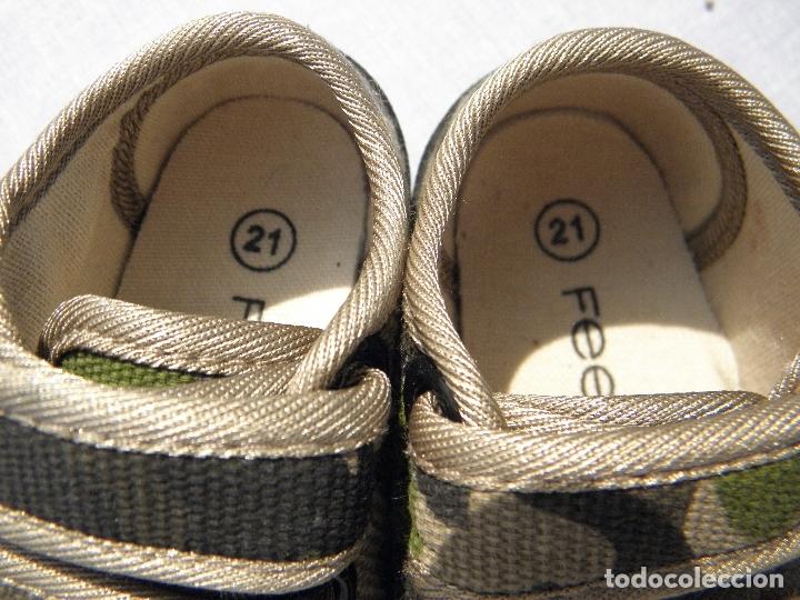 Vestidos Muñecas Españolas: Zapatillas camuflaje para muñeco bebé o reborn - Foto 2 - 171978913