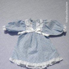 Vestidos Muñecas Españolas: VESTIDO AZUL ANTIGUO DE ÉPOCA, VÁLIDO PARA NANCY. Lote 171997009