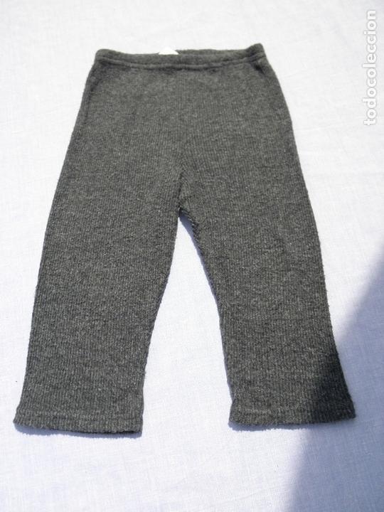 Vestidos Muñecas Españolas: Vestido gris con gatito, con leggins a juego, para muñeca niña o reborn - Foto 4 - 172006345