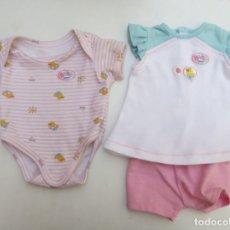 Vestidos Muñecas Españolas: BODY Y CONJUNTO DOS PIEZAS DEL MUÑECO BABY BORN DE ZAPF CREATION.. Lote 230391260