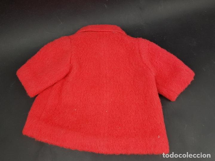 Vestidos Muñecas Españolas: abrigo rojo muñeca antigua - Foto 3 - 176223570