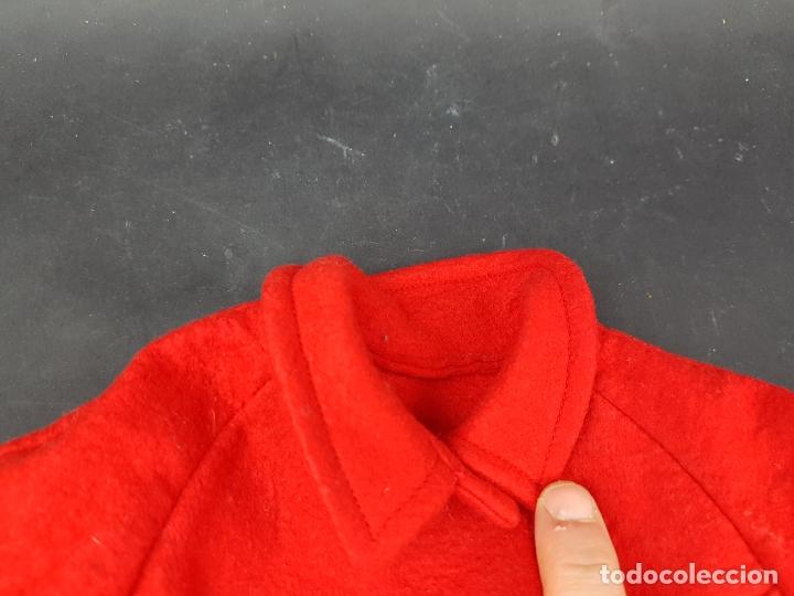 Vestidos Muñecas Españolas: abrigo muñeca antigua paño años 60 70 - Foto 2 - 176223852
