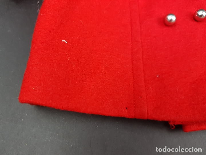 Vestidos Muñecas Españolas: abrigo muñeca antigua paño años 60 70 - Foto 6 - 176223852