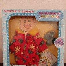 Vestidos Muñecas Españolas: CAJA VESTIDO CONJUNTO COMPLEMENTO MUÑECA BABY MIO FEBER 1991 ZAPATOS MUÑECO. Lote 184578341
