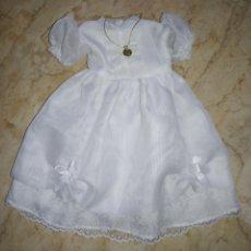 Vestidos Muñecas Españolas: VESTIDO DE COMUNIÓN PARA MUÑECA. Lote 190933210