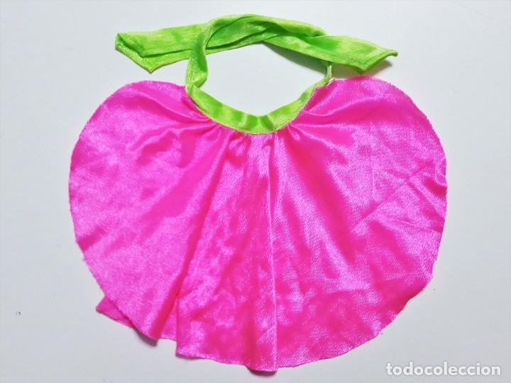 Vestidos Muñecas Españolas: Falda, pareo o capa en la etiqueta MUÑECAS Famosa MADE IN SPAIN 1800 - Foto 2 - 193807960