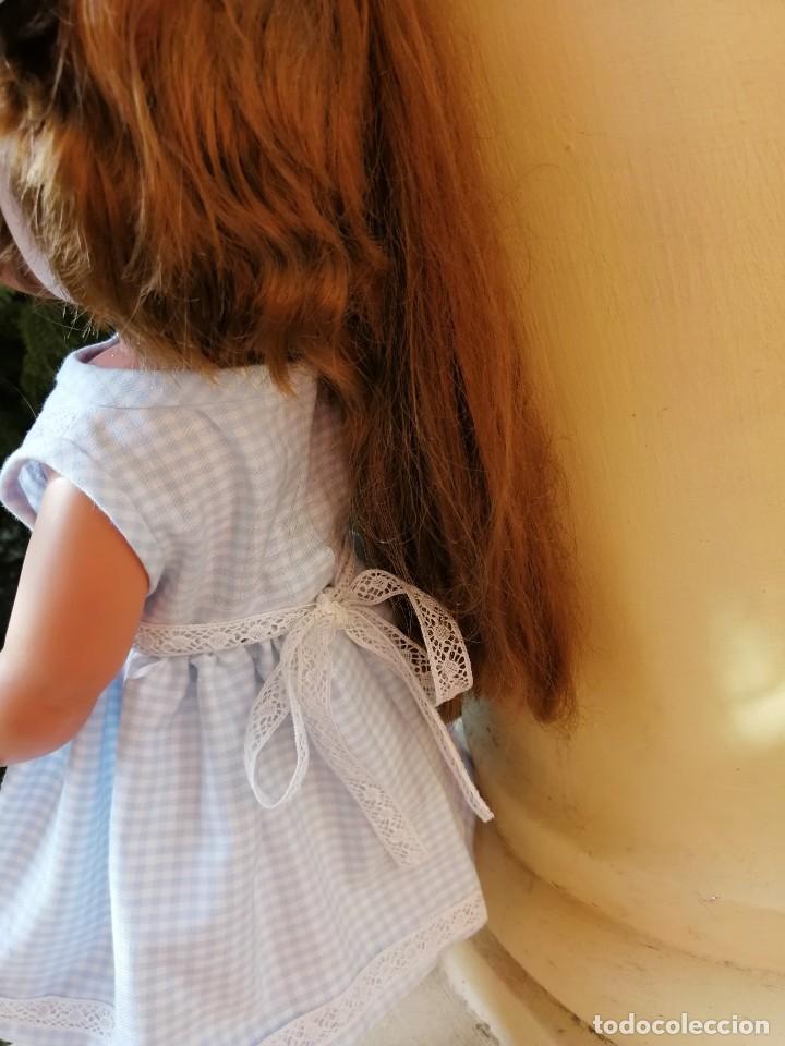 Vestidos Muñecas Españolas: Vestido viella azul vichy con tocado y braguita para muñeca de 50 a 54 cm 1 - Foto 5 - 194294548