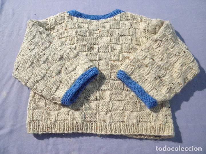 Vestidos Muñecas Españolas: Chaqueta de punto gruesa para muñeca bebé o reborn - Foto 2 - 194679936