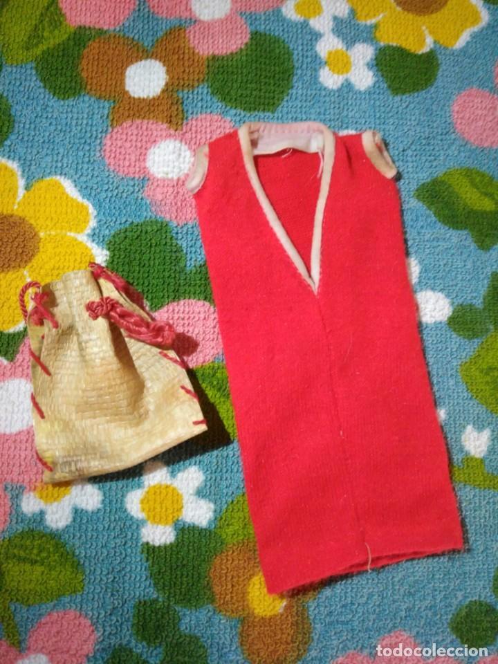 Vestidos Muñecas Españolas: Vestido rojo y bolso muñeca maniquí mini Tressy de Novo Gama - Foto 2 - 195341262