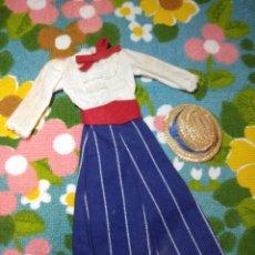 Vestidos Muñecas Españolas: CONJUNTO VESTIDO Y SOMBRERO MODELO VIVA MARÍA DE MUÑECA TRESSY DE NOVO GAMA. Lote 195341640