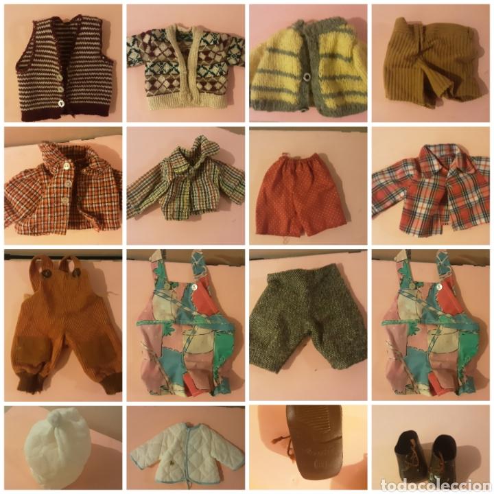 LOTE 15 PRENDAS AÑOS 70 PARA MUÑECAS (Juguetes - Vestidos y Accesorios Muñeca Española Moderna)