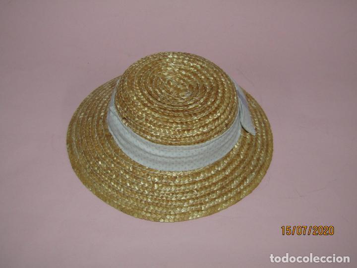 Vestidos Muñecas Españolas: Antiguo Sombrero de Paja o Fibras Vegetales de Muñecas - a Estrenar - Año 1980s. - Foto 2 - 211867100