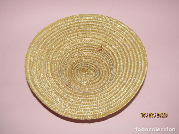 Vestidos Muñecas Españolas: Antiguo Sombrero de Paja o Fibras Vegetales de Muñecas - a Estrenar - Año 1980s. - Foto 3 - 211867313