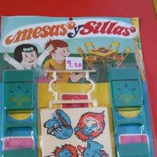 Vestidos Bonecas Espanholas: MESA Y 4 SILLAS PLEGABLES PARA MUÑEQUITOS.TIRSO 70S.NUEVO.. Lote 217587337