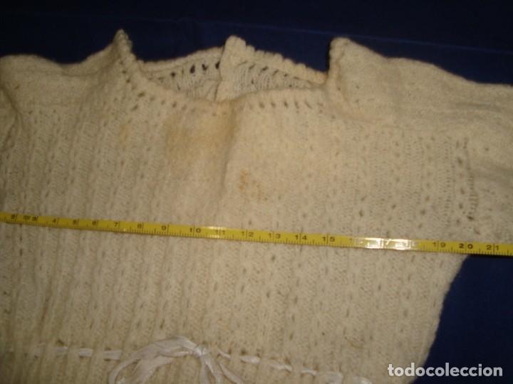 Vestidos Muñecas Españolas: ANTIGUO JERSEY DE PUNTO PARA MUÑECA GRANDE - Foto 3 - 222835240