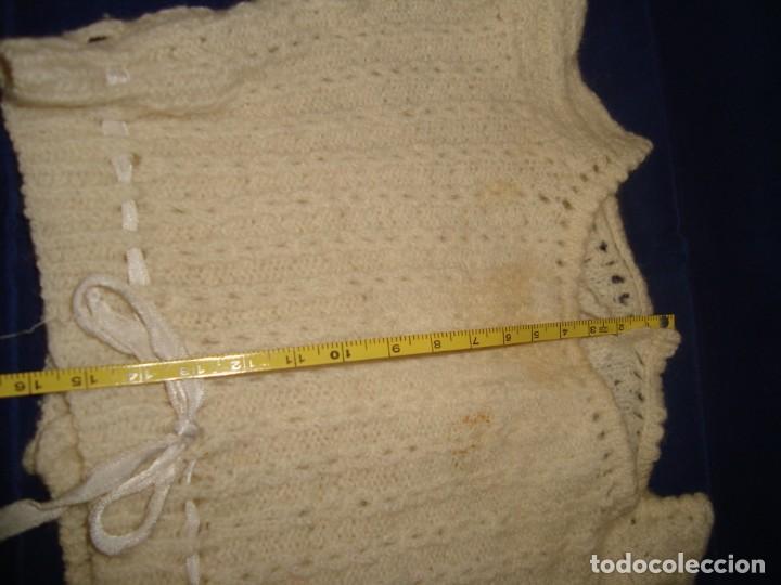 Vestidos Muñecas Españolas: ANTIGUO JERSEY DE PUNTO PARA MUÑECA GRANDE - Foto 4 - 222835240