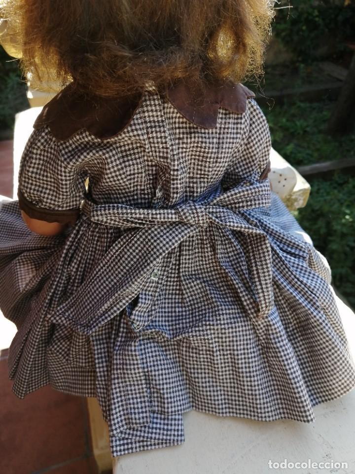 Vestidos Muñecas Españolas: Vestido antiguo para muñeca de 46 a 52cm - Foto 4 - 225738615