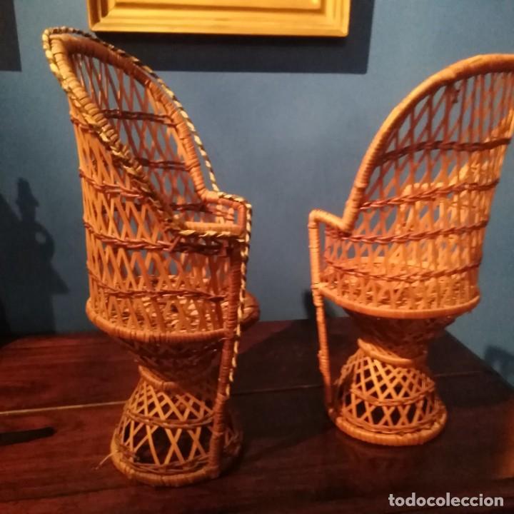 Vestidos Muñecas Españolas: Antiguos sillones de muñecas, siglo xix. - Foto 2 - 228940130