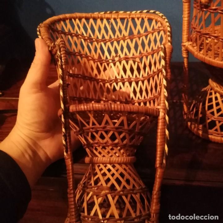 Vestidos Muñecas Españolas: Antiguos sillones de muñecas, siglo xix. - Foto 4 - 228940130