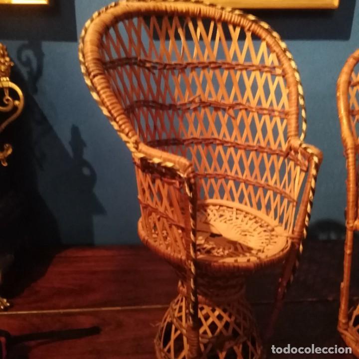 Vestidos Muñecas Españolas: Antiguos sillones de muñecas, siglo xix. - Foto 5 - 228940130