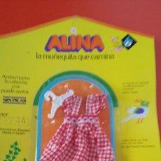 Vestidos Bonecas Espanholas: VESTIDO TIRANTES CUADROS ALINA.MUÑECAS BB 70S.SIN ABRIR.. Lote 236793945