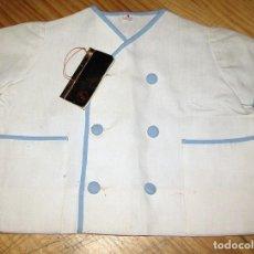 Vestidos Muñecas Españolas: ANTIGUA CAMISA BLANCA PARA NIÑO O MUÑECO - BLANCA Y AZUL CELESTE - AÑOS 60 / 70 - NUEVA. Lote 257748845