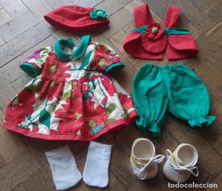 Vestidos Muñecas Españolas: Vestido colección Agatha Ruiz de la Prada Pocas Pecas de Feber años 90 con accesorios - Foto 2 - 262753110