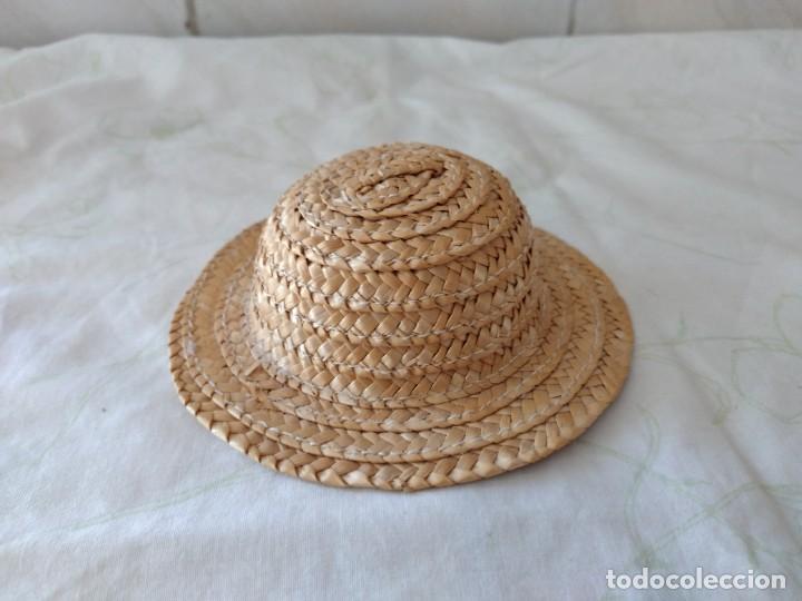 Vestidos Muñecas Españolas: Antiguo gorro de paja para nancy o similares. - Foto 3 - 288303413