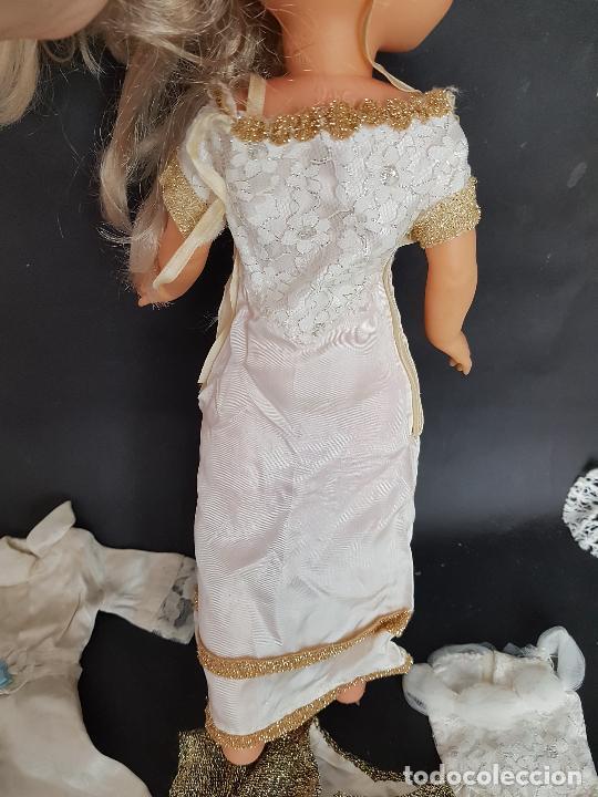 Vestidos Muñecas Españolas: Lote de vestidos caseros años 70 para nancy - Foto 3 - 289753693