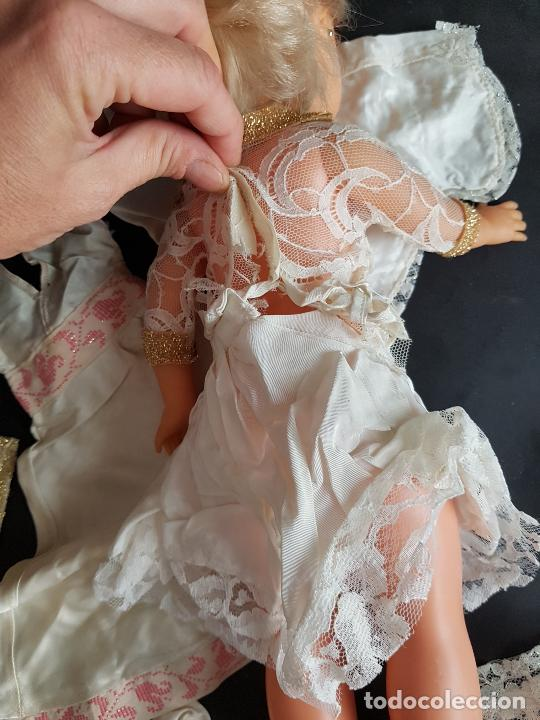 Vestidos Muñecas Españolas: Lote de vestidos caseros años 70 para nancy - Foto 17 - 289753693