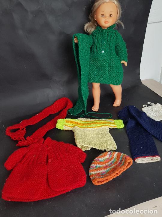 LOTE DE ROPA CASERA DE PUNTO PARA NANCY AÑOS 70 (Juguetes - Vestidos y Accesorios Muñeca Española Moderna)