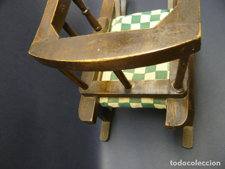 Vestidos Muñecas Españolas: Bella silla trineo de madera para muñeca altura Nancy aprox. - Foto 4 - 293583098