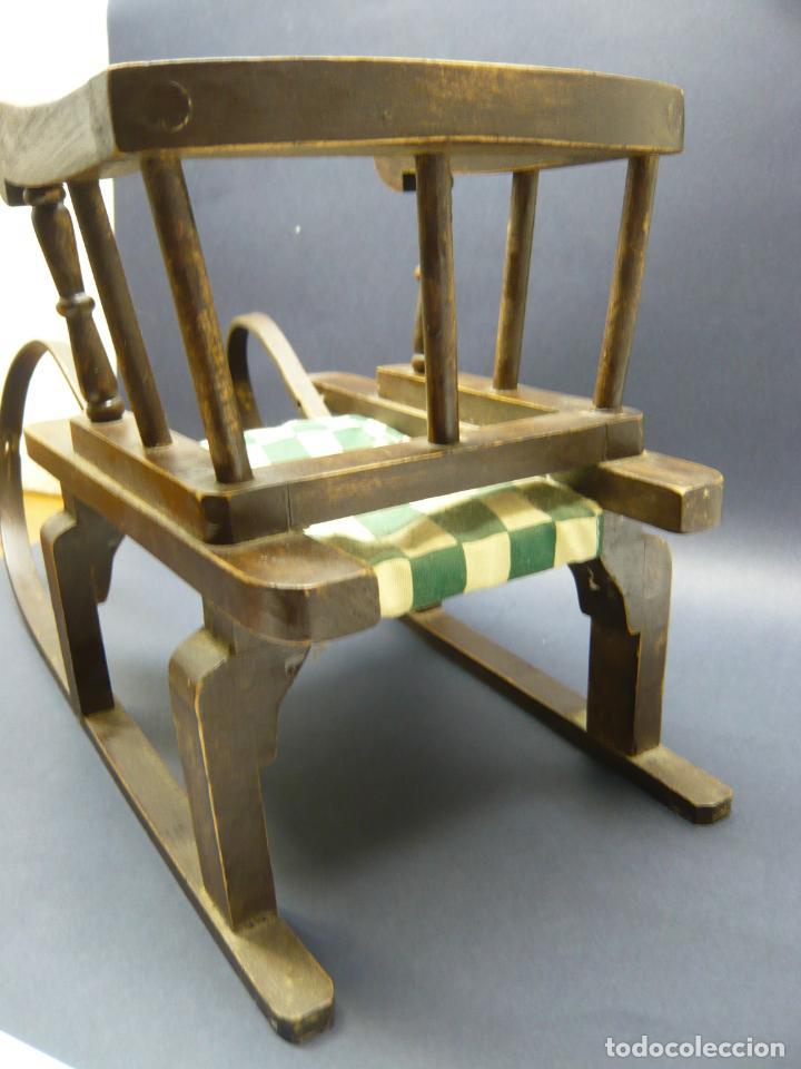 Vestidos Muñecas Españolas: Bella silla trineo de madera para muñeca altura Nancy aprox. - Foto 6 - 293583098