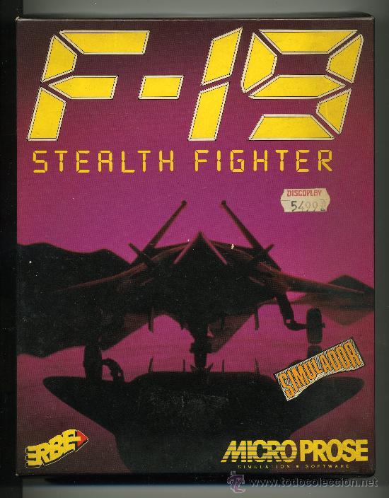 F 19 STEALTH FIGHTER - SIMULACION DE VUELO - VIDEOJUEGO PARA AMIGA CON INSTRUCCIONES (Juguetes - Videojuegos y Consolas - Amiga)