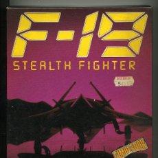 Videojuegos y Consolas: F 19 STEALTH FIGHTER - SIMULACION DE VUELO - VIDEOJUEGO PARA AMIGA CON INSTRUCCIONES. Lote 31097879