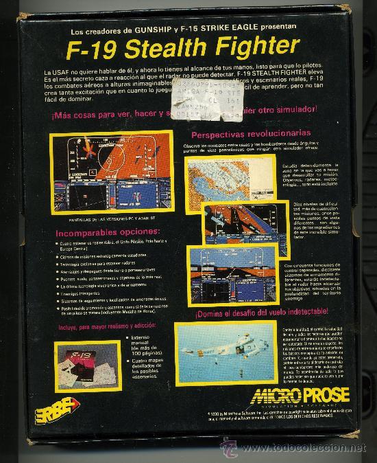 Videojuegos y Consolas: F 19 STEALTH FIGHTER - SIMULACION DE VUELO - VIDEOJUEGO PARA AMIGA CON INSTRUCCIONES - Foto 2 - 31097879