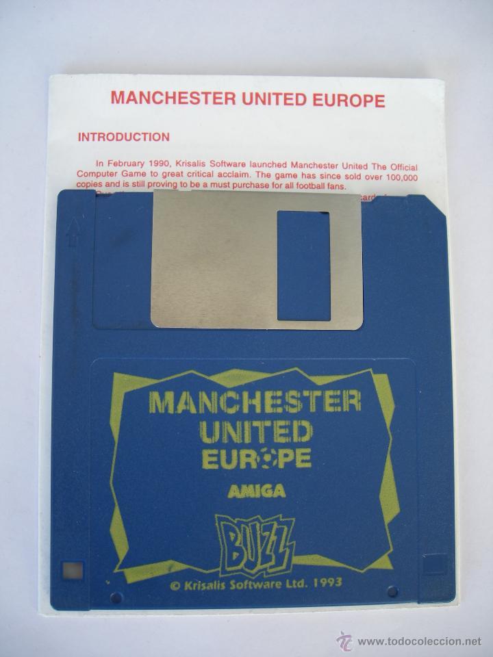 JUEGO PC - MANCHESTER UNITED EUROPE - SOFTWARE KRISALIS - 1991 - INGLÉS - INSTRUCCIONES (Juguetes - Videojuegos y Consolas - Amiga)